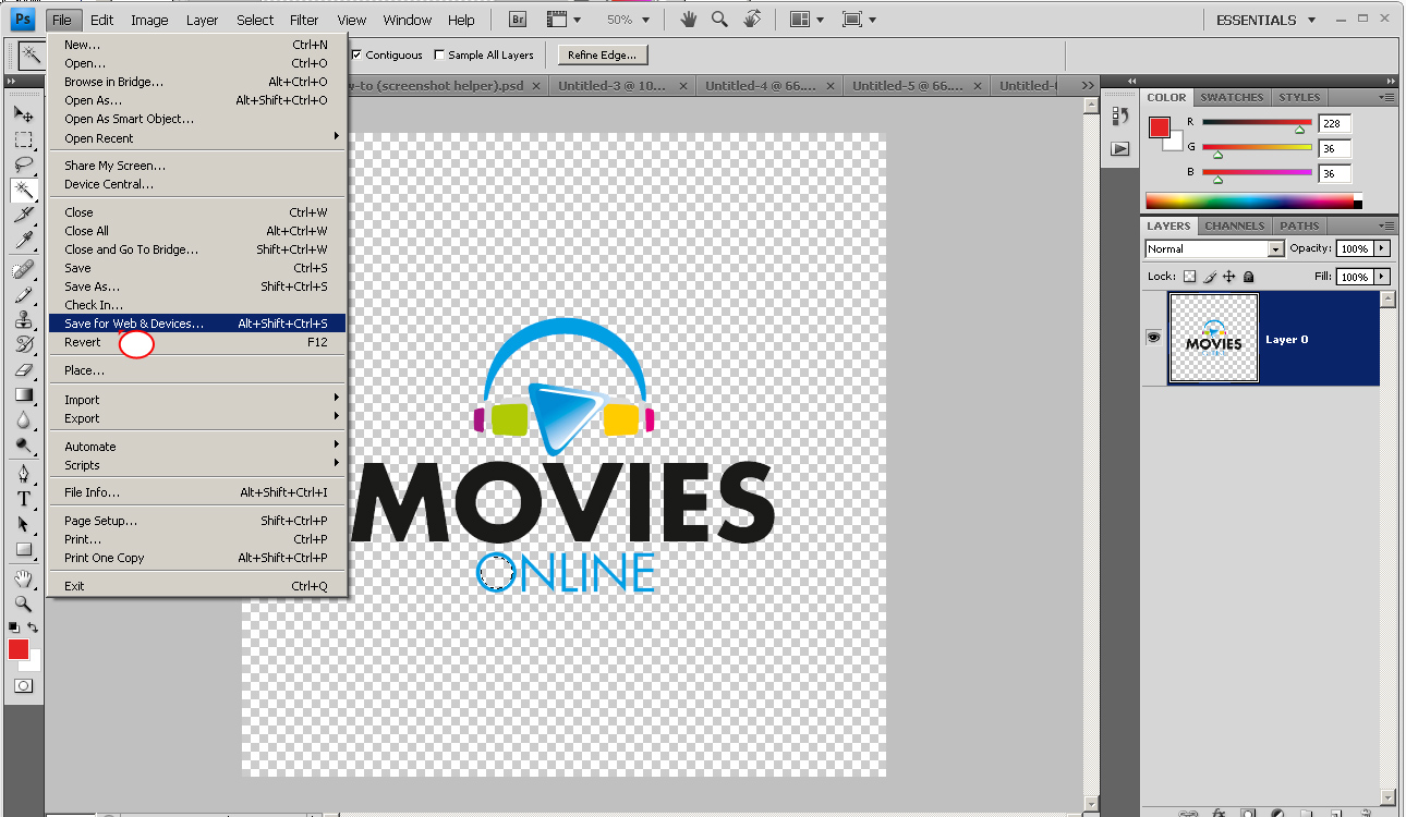 Как сделать фон для логотипа в фотошопе