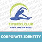 Unternehmensidentität Vorlage für Fitness