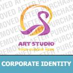 Unternehmensidentität Vorlage für Kunstatelier