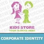 Unternehmensidentität Vorlage für Babyshop