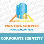 Unternehmensidentität Vorlage für Hosting