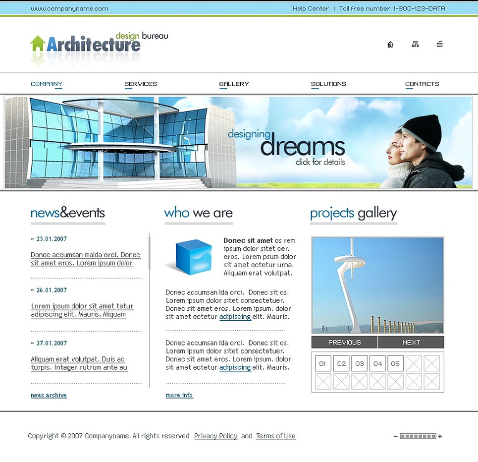 Шаблон сайту на тему будівельна компанія templatemonster