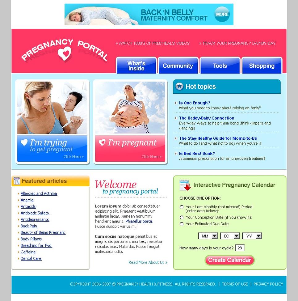 Колесико шаблон для беременных
