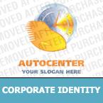 Unternehmensidentität Vorlage für Autohaus