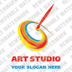 Logo Vorlage für Kunstatelier