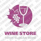 Logo Vorlage für Wine