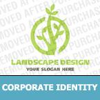 Unternehmensidentität Vorlage für Landschaftsgestaltung