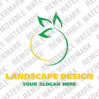Logo Vorlage für Landschaftsgestaltung