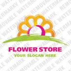 Logo Vorlage für Blumengeschäft