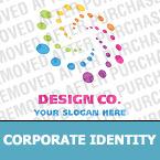 Unternehmensidentität Vorlage für Designstudio