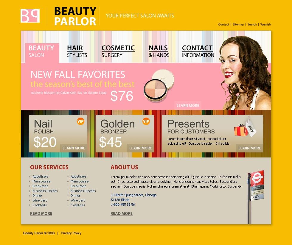 The beauty parlour business card template mycreativeshop