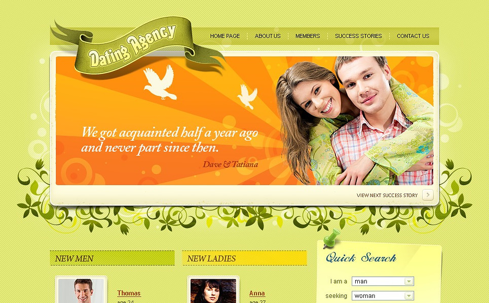 free php dating templates