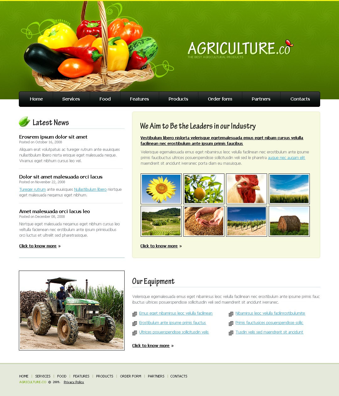 Agriculture Web Templates Template Monster 2069621 - vdyu.info