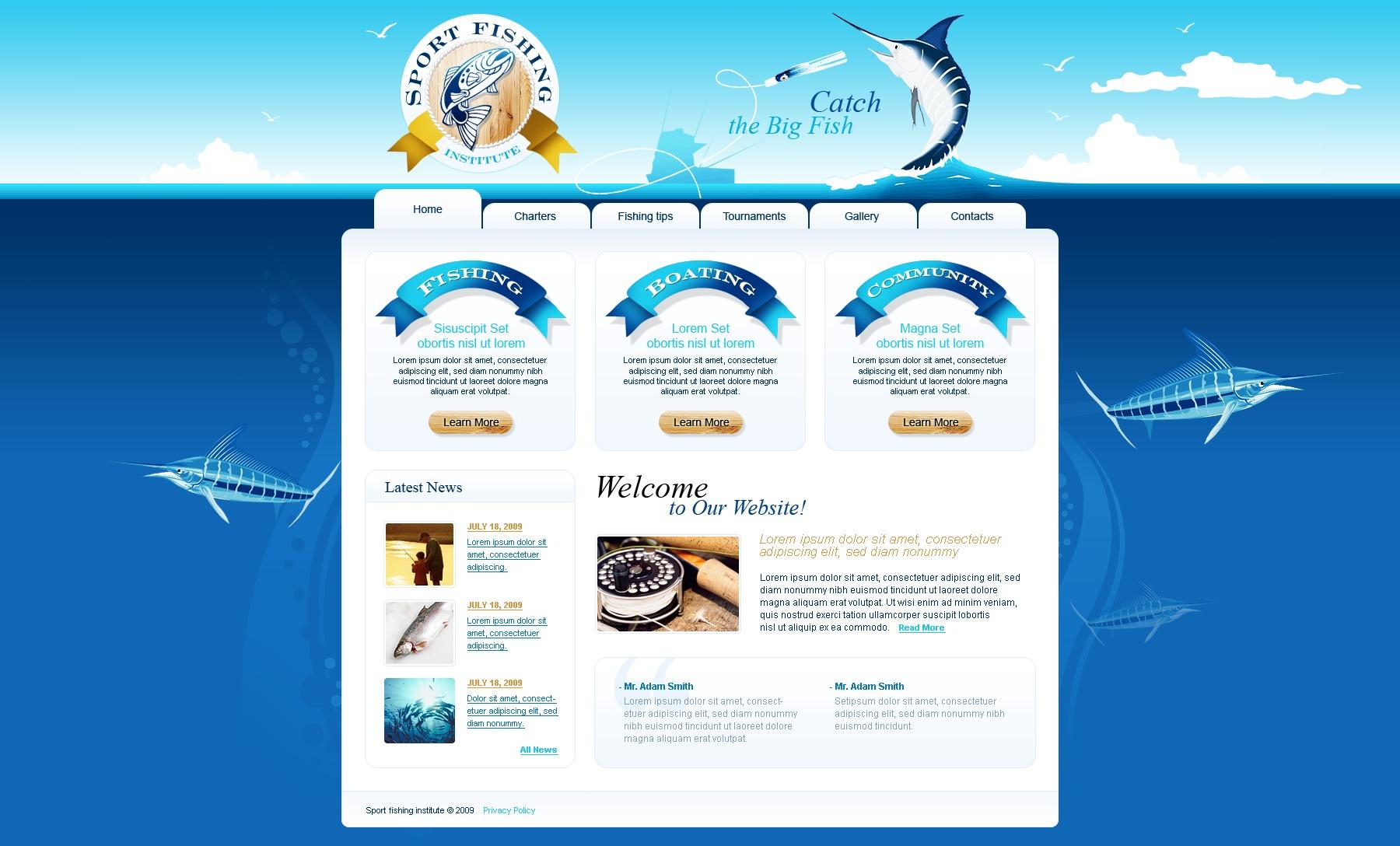 Шаблон sportfishing
