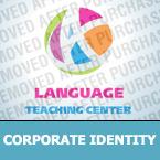 Unternehmensidentität Vorlage für Sprachschule