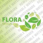 Logo Vorlage für Blumen