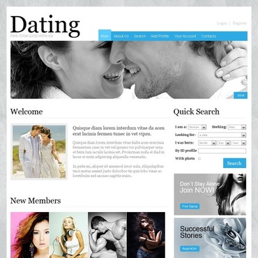 Dating app website template