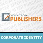 Unternehmensidentität Vorlage für Verlag