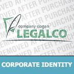 Unternehmensidentität Vorlage für Anwaltskanzlei