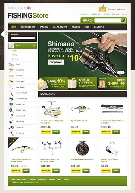 Данный шаблон сайта рыбалка и охота не только