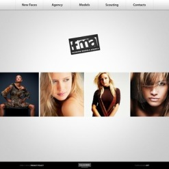 Model Agency Facebook Flash CMS Template