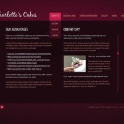 Flash CMS Vorlage für Süßwarengeschäft