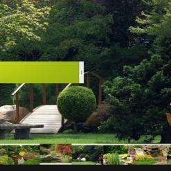 Facebook Flash CMS Template für Landschaftsgestaltung