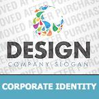 Unternehmensidentität Vorlage für Web Design