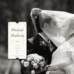 Szablon Facebook Flash CMS #35215 na temat: album ślubny