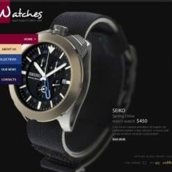 Szablon Facebook Flash CMS #35530 na temat: zegarki