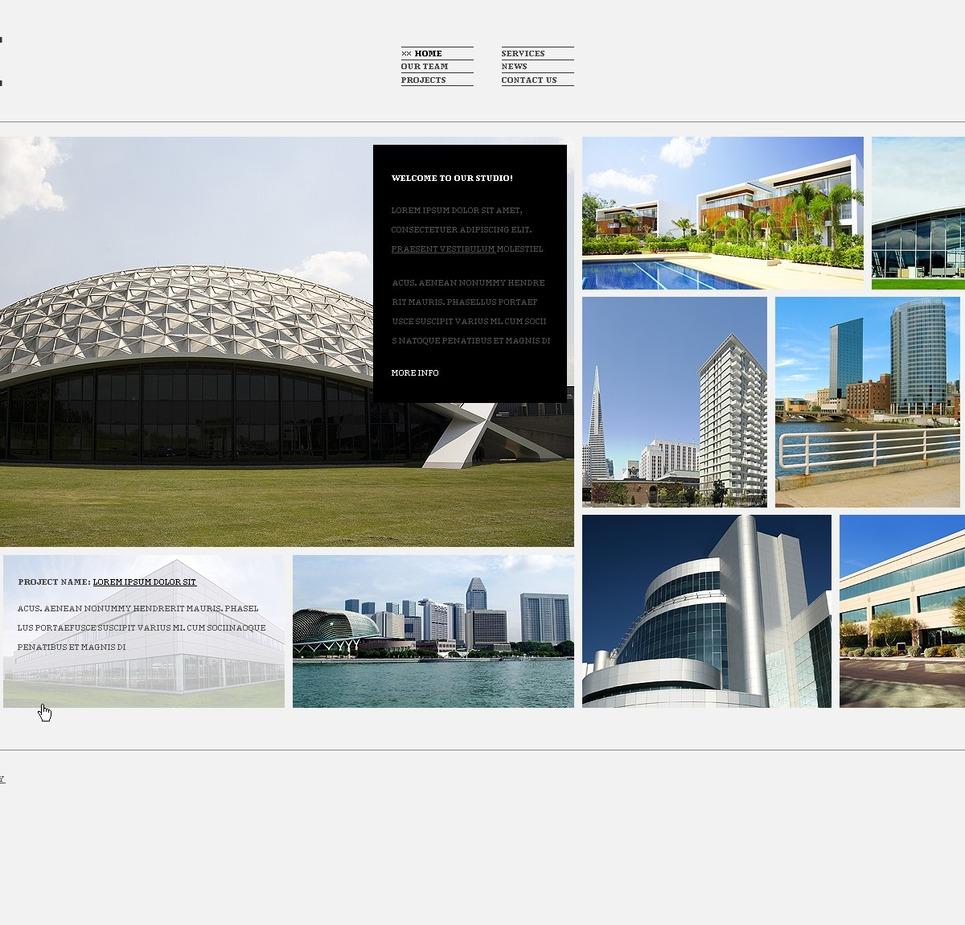White architecture wordpress template by hinoriko