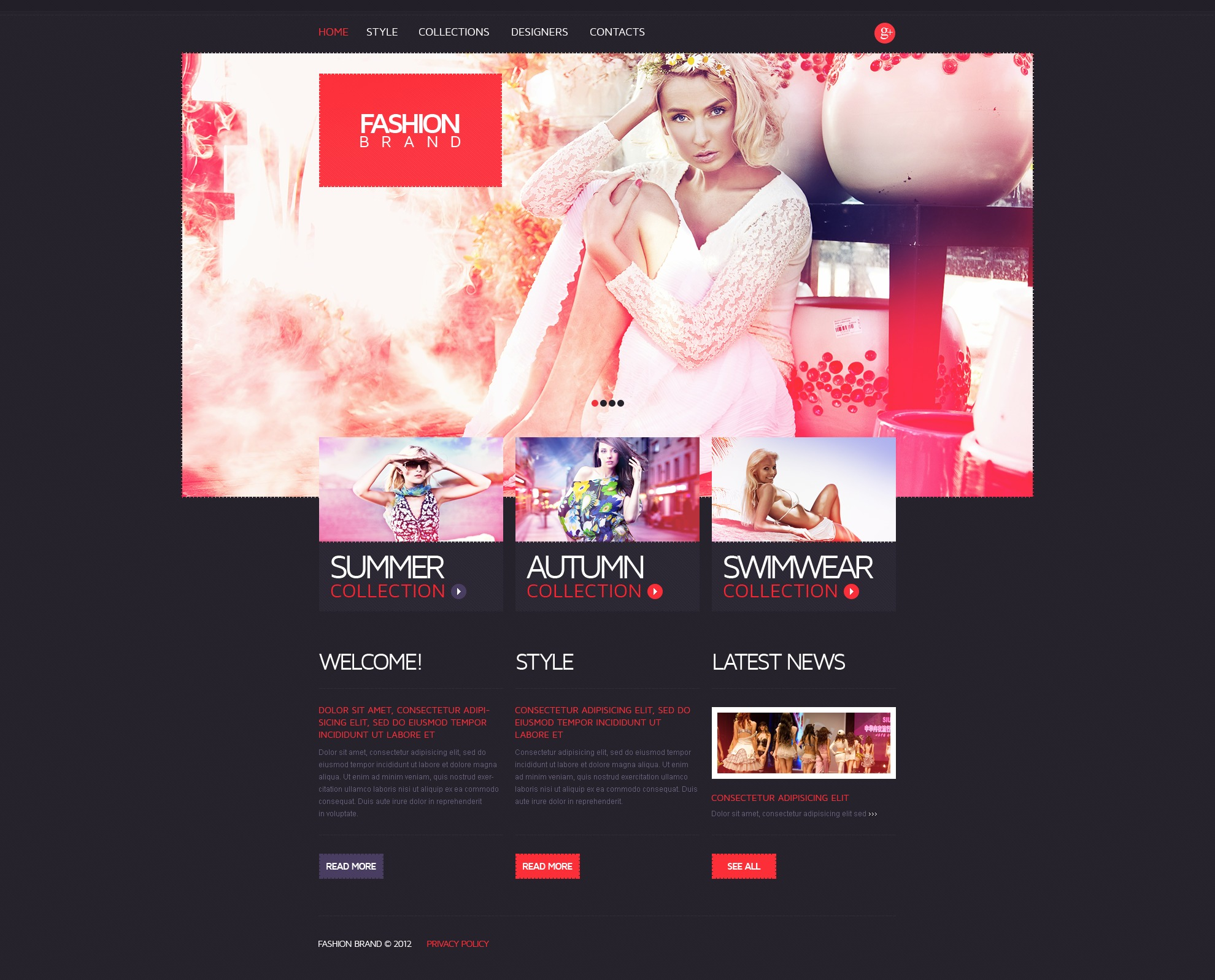 Fashion web templates free download 10