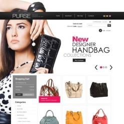 Handbag Facebook Flash CMS шаблон