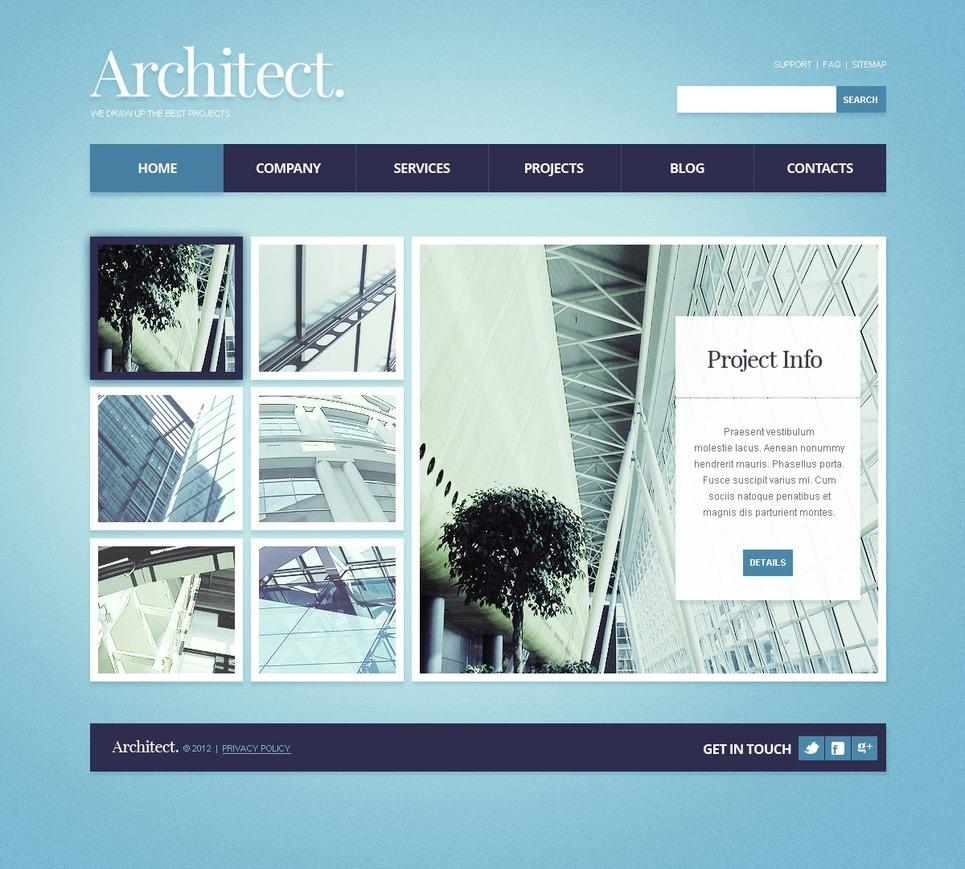Html шаблон для архитектуры