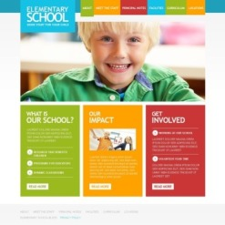 Facebook Flash CMS Template für Grundschule