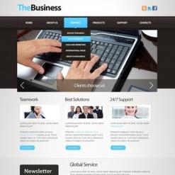 Modèle Flash CMS Pour Facebook  pour site d'affaires et de services