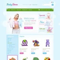 OpenCart Vorlage für Babyshop