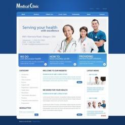Medical Facebook Flash CMS шаблон