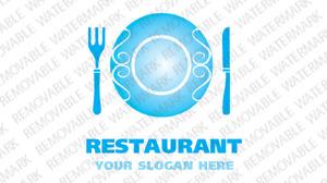 Logo Vorlage für Europäisches Restaurant