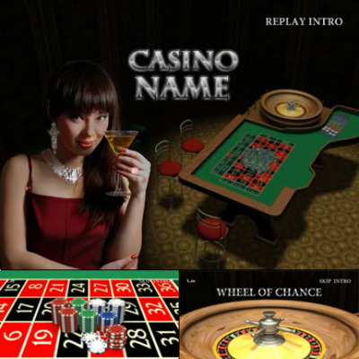 Online Casino Flash Intro шаблон