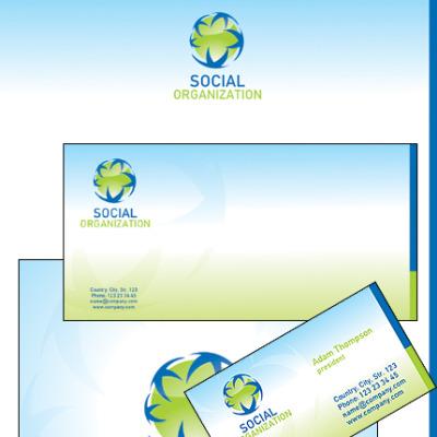 Social Foundation Corporate Identity Template