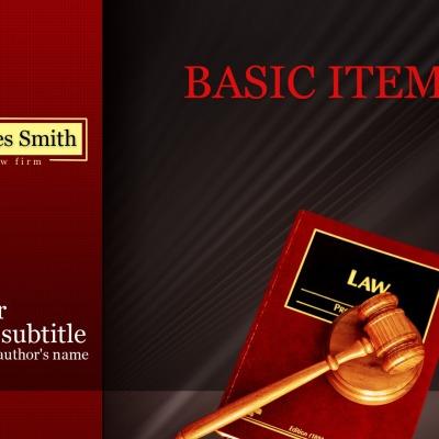 Unternehmensidentität Vorlage für Rechtsanwalt