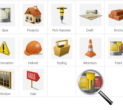 Construction Company Iconset Template
