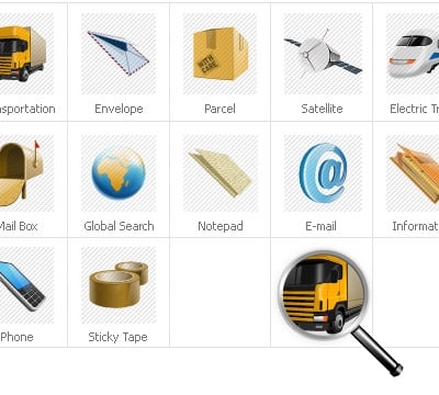 Delivery Services Iconset Template