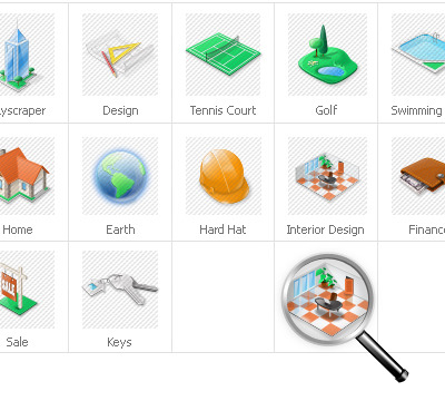 Real Estate Iconset Template