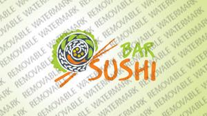 Logo Vorlage für Sushi Bar
