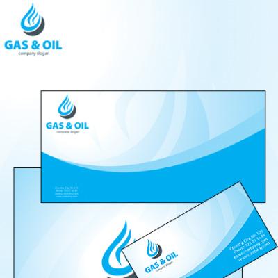 Unternehmensidentität Vorlage für Öl und Gas