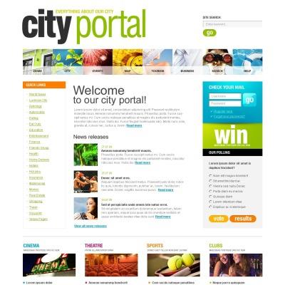 Szablon SWiSH #33136 na temat: portal miejski