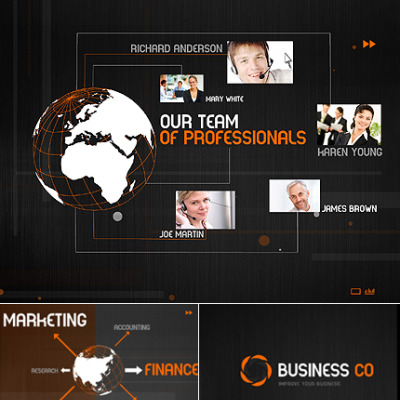 Szablon Intro Flash #33592 na temat: biznes i usługi