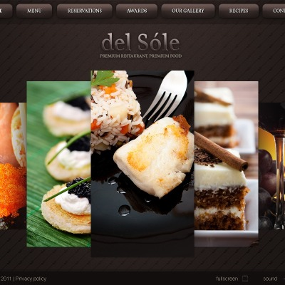 Facebook Flash CMS Template für Europäisches Restaurant